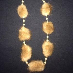 Vintage Mink Fur & Faux Pearls (Early 1970's)